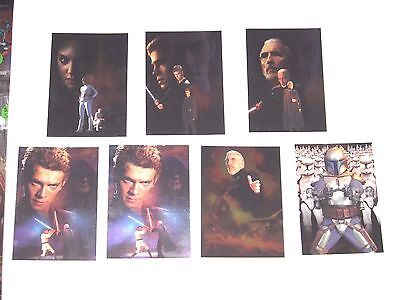 2002 Star Wars: Attack of the Clones SILVER FOIL INSERT 7 CARD LOT! #2 3 4 8 9