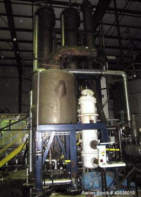 Used- Triple Effect Falling Film Evaporator, 321 Stainless Steel. Approximately