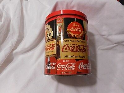 Collectible Coca Cola Coke Puzzle in a Collectible Metal Tin Advertisement Signs