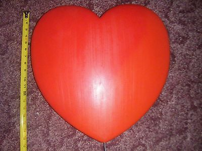 """Vintage 19"""" Union Heart Valentine's Day Light Up Blow Mold Decor With Yard Stake"""
