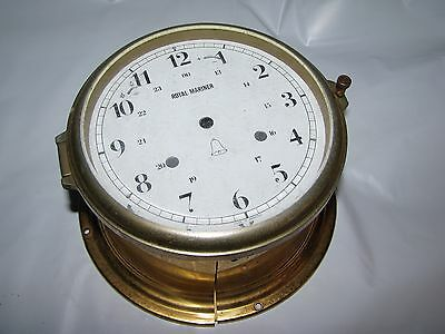 Brass Ships Clock Case with German Royal Mariner Dial