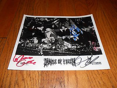 signed cradle of filth autograph picture band mayhem records black metal old