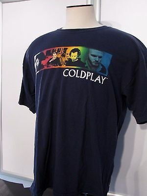 COLDPLAY Twisted Logic Tour Vintage Concert Issue TEE SHIRT SZ XL