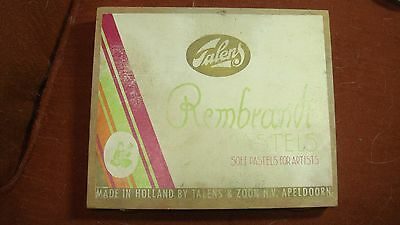 talens Rembrandt Pastels in case, used