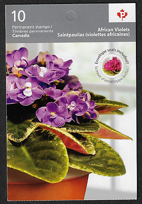 Canada Stamps -Booklet Pane of 10P - Flowers: African Violets #2378a (BK426) MNH