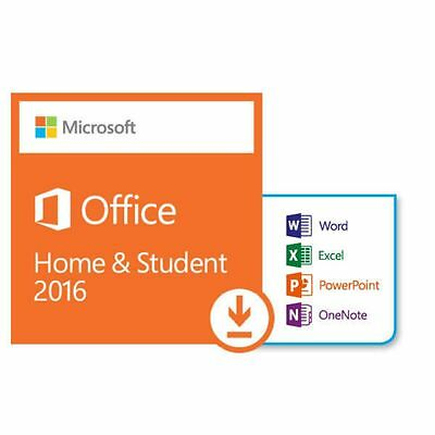 Microsoft Office 2016 Home and Student for 1 PC PKC Code Emailed Fast Service