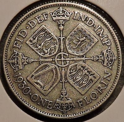 British Florin - 1930 - Big Silver Coin - $1 Unlimited Shipping