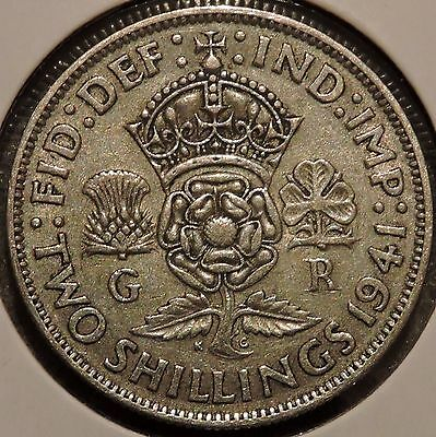 British Florin - 1941 - Big Silver Coin - $1 Unlimited Shipping