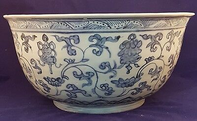 Ming Blue and White Large Bowl