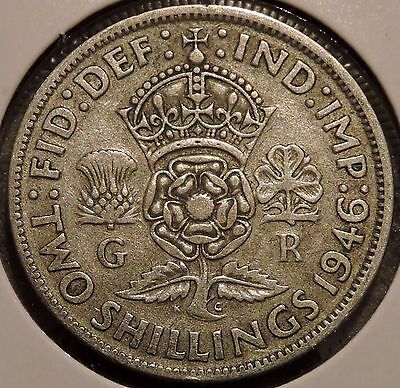 British Florin - 1946 - Big Silver Coin - $1 Unlimited Shipping