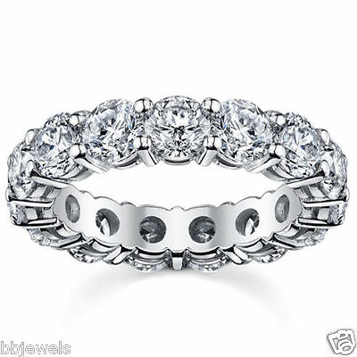 1.00CT Round  Full Eternity Ring 14K White Gold Real  Diamond Anniversary Band