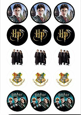 Edible Cupcake Toppers Harry Potter PRE CUT - Highest Australian Quality