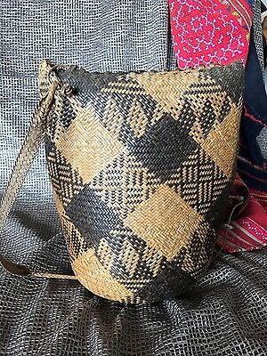 Old Borneo Woven Back Pack / Shoulder Bag …beautiful traditional weaving