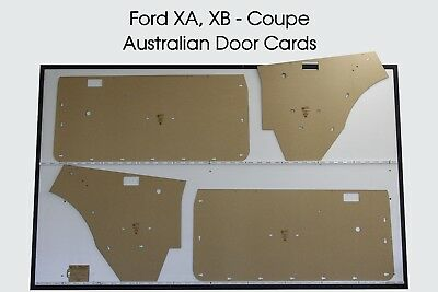 Ford XA, XB Falcon, Fairmont GT. Coupe, Hardtop, Door Cards. Blank Trim Panels.