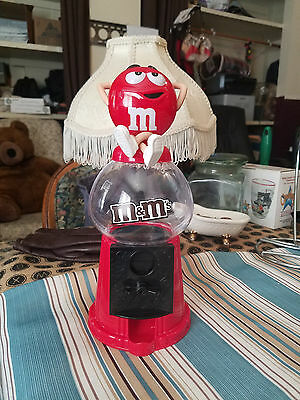 Red - M&M - Candy Dispenser 2011 Red M & M Plastic Container
