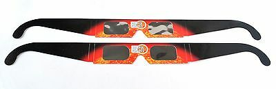 Eclipse Shades 2 pack - Solar Eclipse 2017 viewing glasses - Made in the USA!