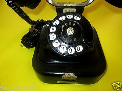 Antique Iron Telephone vintage black bell phone