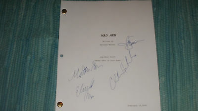 Mad Men Tv Pilot Script Autographs - Jon Hamm Elisabeth Moss Christina Hendricks