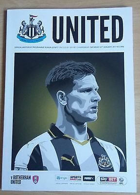 NEWCASTLE UNITED v ROTHERHAM UNITED MATCHDAY PROGRAMME 21/01/2017 *MINT* MAGPIES