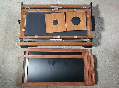 7x17 large format camera body,two film holders,two lens boards