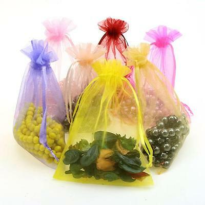 50 pcs Organza Bags Wedding Jewellery Gift Favour Pouch7x9 9x12cm Luxury Quality