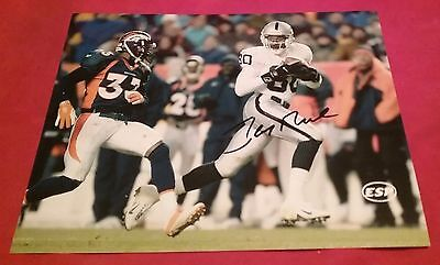NFL RAIDERS 49ERS JERRY RICE AUTOGRAPHED SIGNED 8x10 FOOTBALL PHOTO COA JSA PSA