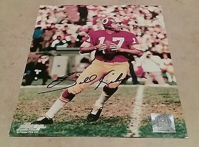 NFL REDSKINS HOF BILLY KILMER AUTOGRAPHED SIGNED 8x10 FOOTBALL PHOTO COA JSA PSA