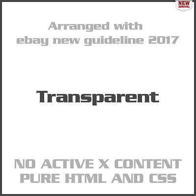 Transparent eBay Auction Listing Template Design + Responsive Bay store