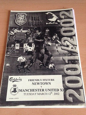 2002 Newtown V Manchester United X1 - Friendly