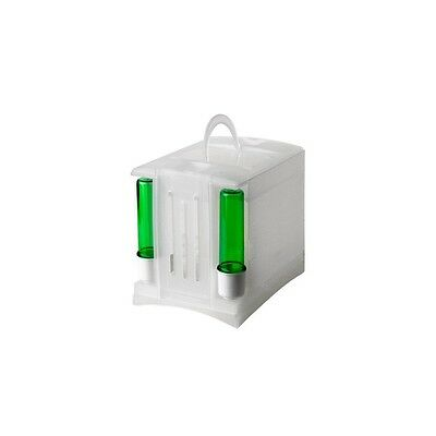 Transport CARRY Bird Cage  Double Feeder Drinker Finch Canary Parakeet Cocktail