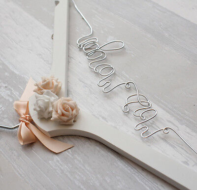 Wedding Day Personalised Wedding Dress Coat Hanger Any Name And Colour