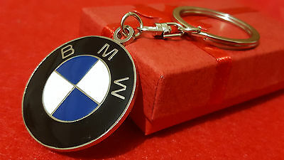 BMW Beemer Series, X1, X3, X5, Z4 Car Logo Metal Keyring with Gift Pouch (S1SL)