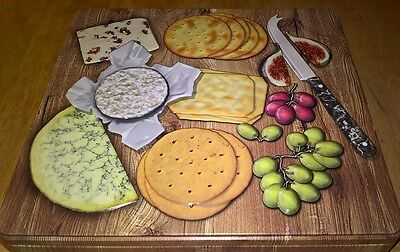 embossed cheese board selection tin containing a selection of savoury crackers