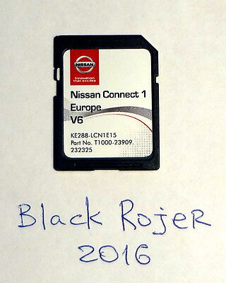 New SD Card with map Europe for Nissan Connect LCN1 V6 KE288-LCN1E15 (2015-2016)