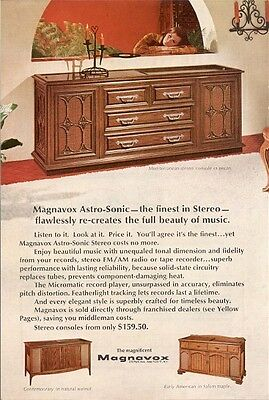 Magnavox AstroSconic Finest Stereo Recreates Beauty of Music Vintage Ad 1968
