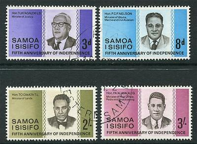 Samoa: 1967 5th Anniv of Independence set SG274-7 Used Q053a