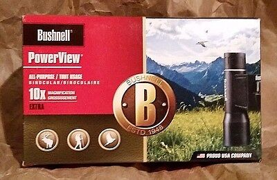 NEW Bushnell 131032 PowerView 10X 32mm Roof Prism Binocular - Ships Free US48!