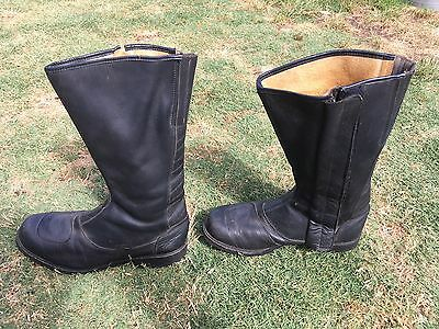 Vintage Motorcycle Boots Rollers spider