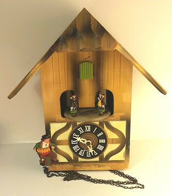 Cuckoo Clock German Black Forest Not Working Musical Chalet 1 Day CK1433