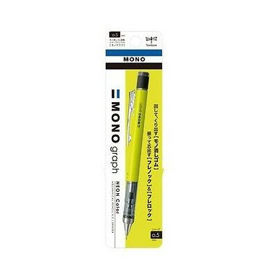 Tombow Mono Graph Shaker Mechanical Pencil 0.5mm Neon Yellow DPA-134C