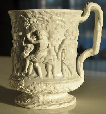 1840s UK Britain British CHARLES MEIGH Unmarked Piece of Art BACHUS ORGY Mug