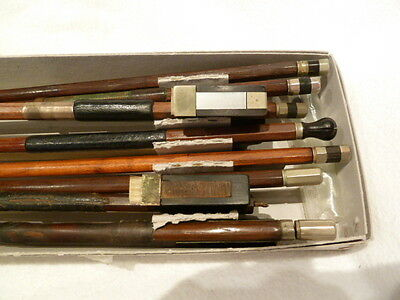 Private COLLECTION to SELL 110: OLD German VIOLIN BOWS - 8 - to Repair