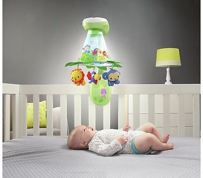 Fisher-Price Rainforest Grow-with-Me Projection Mobile BNIB
