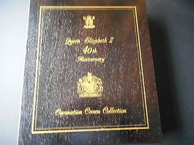 Queen Elizabeth II 40th Anniversary 18 Crowns Silver Proof  Coin Collection 1993