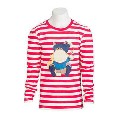 **NEW** Toggi Amelie Childrens Long Sleeve Top (Berry Red Stripe)