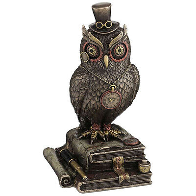 Timewise Steampunk Decor Owl Ornament