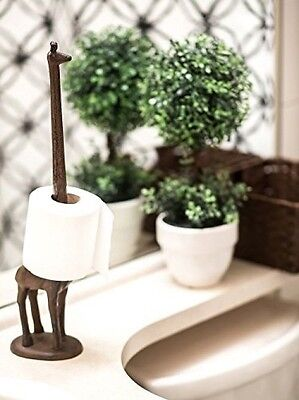 Paper Towel Holder or Free Standing Toilet Paper Holder- Cast Iron Giraffe Paper