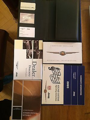 Chrysler Voyager Owners Handbooks And Leather Pouch.