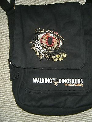 Childrens Walking With Dinosaurs Black Bag Long Strap Flap Opening