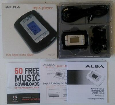 Brand New Boxed Alba Mp3  1Gb Digital Music Player Plus All Parts Headphones Etc
